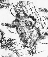"""Идзю. Рисунок Санто Кёдэна из книги """"Hokuetsu Seppu"""" (""""Снежные истории"""") Бокуси Судзуки, эпоха Эдо (1603‑1867)"""