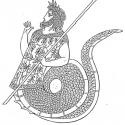 Кекроп. Реконструкция античного изображения