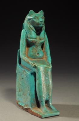 Львиноголовая богиня. Египетская статуэтка эпохи Птолемеев