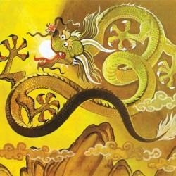 """Китайский дракон. Иллюстрация Ангуса МакБрайда для журнала """"Finding Out"""""""