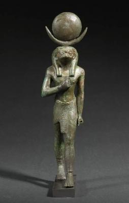 Статуэтка сокологолового бога луны Хонсу