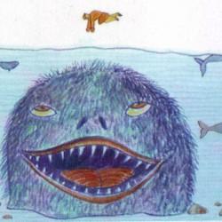 Анкы-келе. Рисунок чукотского художника Онно