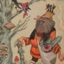 Ворса, коми-зырянский леший. Иллюстрация Аркадия Мошева