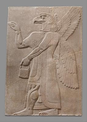 Ануннак. Барельеф из дворца Нимруда (883-859 годы до н.э.)