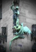 Драконоборец Саарбрюкена — настенная статуя
