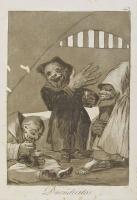 """""""Маленькие дуэнде"""". Офорт Франсиско Гойи из серии """"Капричос"""" (1799)"""