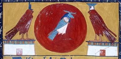 Банебджедет душа-Ба в виде птицы с головой барана