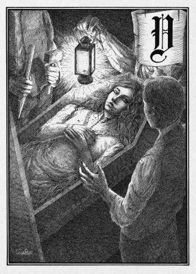 Вампир. Иллюстрация Юлии Широниной (CoalRye)