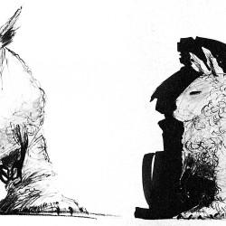 Ранний набросок внешнего вида эвоков. Рисунок Джо Джонстона