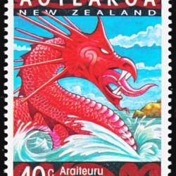 Дракон Араитеуру на новозеландской марке