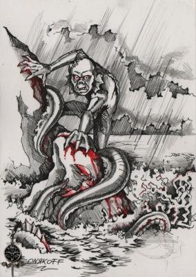 Водные существа. Иллюстрация Ивана Онякова к бестиарию Сапковского