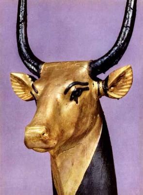 Небесная корова Мехурт. Изваяние из гробницы Тутанхамона
