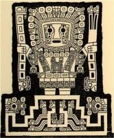 Виракоча — победитель драконов-амару. Ворота Солнца в Тиауанако, Боливия