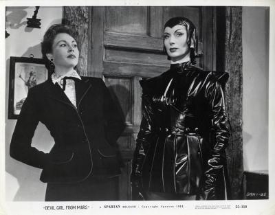 """Марсианка Ния. Лобби-карточка к фильму """"Дьявольская девушка с Марса"""" (Devil Girl from Mars, 1954)"""