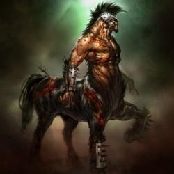 """Кентавр. Рисунок Энди Парка к игре """"God of War"""""""