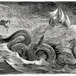 Морской змей. Гравюра Густава Доре