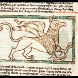 Грифон (Рукопись Британской библиотеки MS Harley 3244, fol. 38v)
