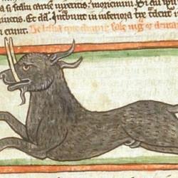 Эал (Рукопись Британской библиотеки MS Harley 3244, fol. 44r)
