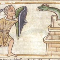 Василиск (Рукопись Британской библиотеки MS Harley 3244, fol. 59v)
