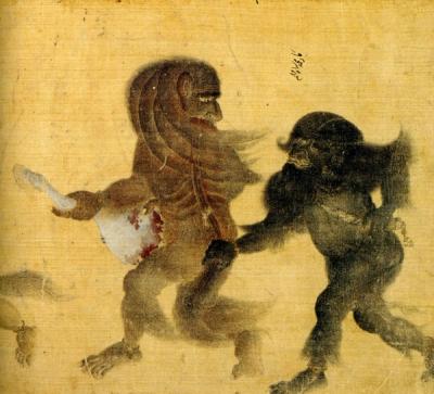 Демоны. Рукопись библиотеки дворца Топкапы в Стамбуле (Hazine 2153, fol. 40v.)