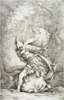 Язон и дракон. Гравюра Сальватора Розы