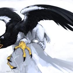 Ледовый грифон (Ice Gryphon). Иллюстрация Люка Манчини
