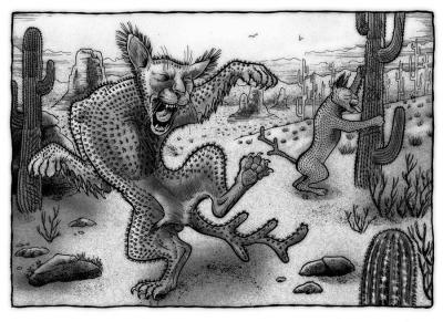 Кактусовый кот. Иллюстрация Ричарда Свенссона