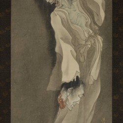 Призрак с отрубленной головой в руке. Автор рисунка Каванабэ Кёсай