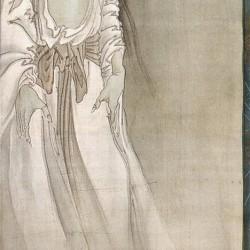 Призрак с бабочками. Автор рисунка Каванабэ Кёсай