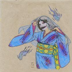 Кутисакэ-онна. Рисунок Моринэко