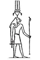 Львиноголовый бог Нефертум. Книжная иллюстрация