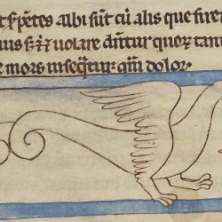 Сирена-змея. Нортумберлендский бестиарий. Музей Гетти, Лос-Анджелес (MS. 100, fol.59r.)