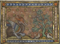Дерево перидексион. Рукопись музея Гетти в Лос-Анджелесе (MS. Ludwig XV 3, fol.98r.)
