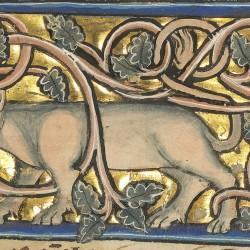 Анталоп. Рукопись музея Гетти в Лос-Анджелесе (MS. Ludwig XV 4, fol.112r.)