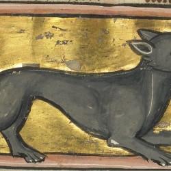 Гиена. Рукопись музея Гетти в Лос-Анджелесе (MS. Ludwig XV 4, fol.88r.)