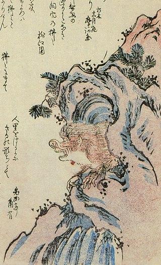 "Хихи. Иллюстрация из ""Хёка хяку-моногатари"" (1853)"
