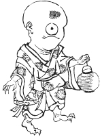 Хитоцумэ-кодзо. Рисунок Масаёси Китао (1764-1824)