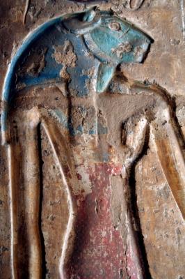 Львиноголовая богиня в погребальном храме Рамсеса III