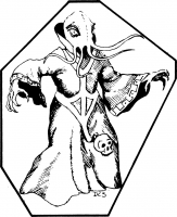 "Иллитид из бестиария ""Dungeons & Dragons"" 1-ой редакции. Иллюстрация Дэвида Сазерлэнда (David C. Sutherland III)"