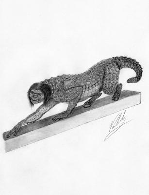 Ламия. Рисунок Валентина Дельвесто
