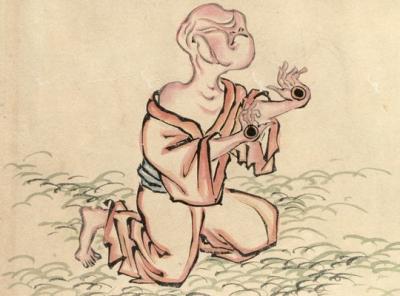 """Тэме-бодзу (Тэ-но мэ). Иллюстрация Ёси Ода (""""Иллюстрированный свиток ночного парада ста демонов"""", 1832)"""
