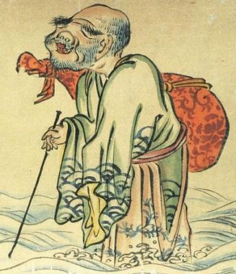 Уми-дзато. Фрагмент свитка «Хякки ягё эмаки», эпоха Муромати