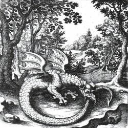 Уроборос. Гравюра Лукаса Дженниса в «De Lapide Philosophico» (1625)