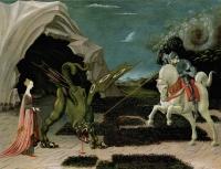 Битва Святого Георгия с драконом. Картина Паоло Уччелло, 1450-е годы