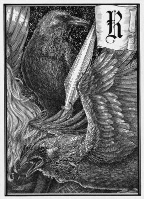Вороны Одина. Иллюстрация Юлии Широниной (CoalRye)