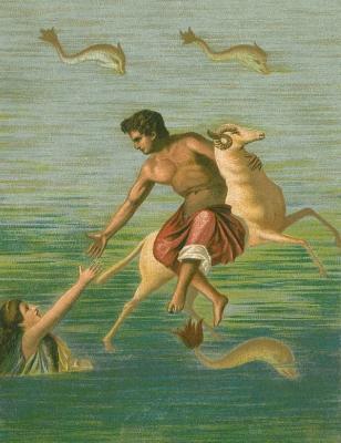 Крий, Фрикс и Гелла. Фреска из Помпей