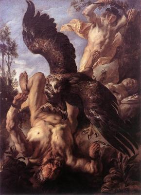 """""""Прометей прикованный"""". Картина Якоба Йорданса (около 1640 года)"""