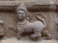 Пурушамрига. Фигура в храме Варадараджа Перумал (Канчипурам, Тамил-Наду, Индия)