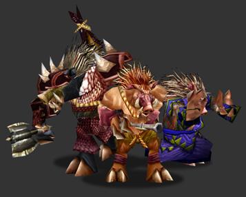 Квилборы. Рендер персонажей к игре World of Warcraft