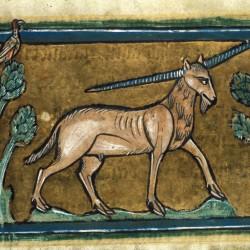 Эал. Рочестерский бестиарий (Royal 12 F XIII, fol. 27r.)